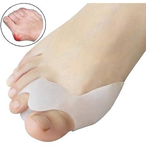 quickcor (TM)–Separador de dedos de pies de Gel de silicona & dedo pulgar pantalla & férula Ajustador