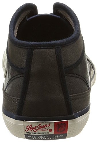 Pepe Jeans London Industry Basic, Baskets mode homme Bleu (585Marine)