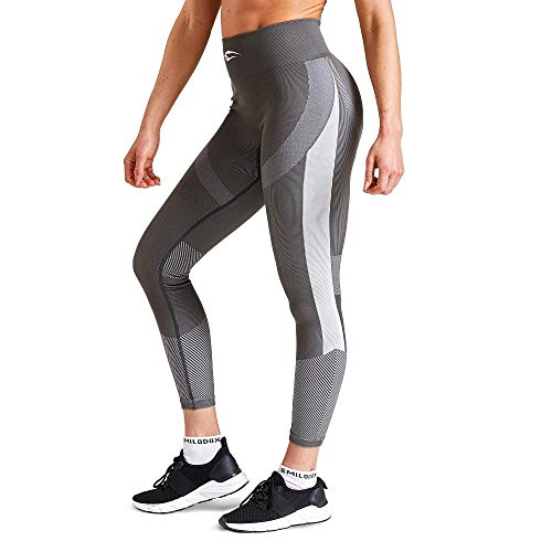 SMILODOX Damen Leggings Ultimate | Seamless - Figurformende Tight für Fitness Gym Yoga Training & Freizeit | Sporthose - Workout Trainingshose, Farbe:Anthrazit, Größe:L