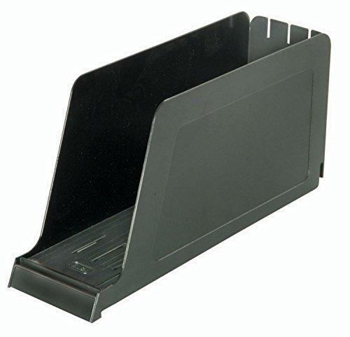 ELBA 100552016 Stehsammler Kassette aus Kunststoff für Kataloge und Zeitschriften in schwarz hochwertiger Zeitschriften-Sammler