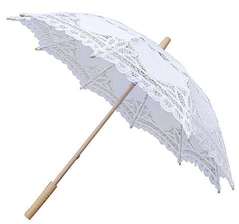 Kapmore Dentelle Parapluie Parasol de Mariage Mariage de Broderie Costume