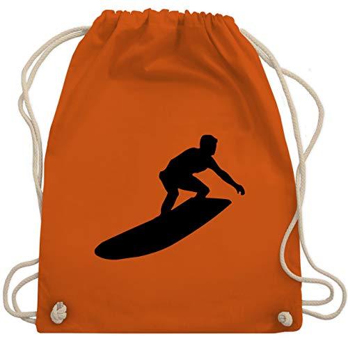 Wassersport - Surfer Silhouette - Unisize - Orange - WM110 - Turnbeutel & Gym Bag