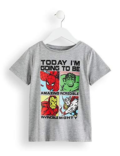 RED WAGON Camiseta Superhéroes de Marvel Niños, Gris...