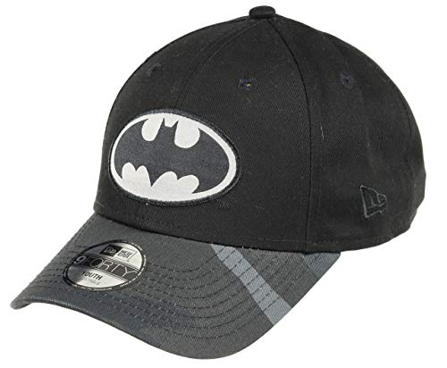 New Era Batman 9forty Adjustable Kids Cap Camo Character Black - Child - New Hüte Jungen Era