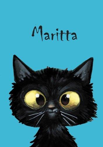 Maritta: Maritta - Katzen - Malbuch / Notizbuch / Tagebuch: A5 - blanko