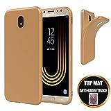 Coque Compatible avec Samsung Galaxy J5 2017 Ultra Slim Mince Premium Antichoc Case Cover Housse Etui de Protection - Doré Or