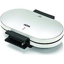 Petra Electric 58.130302.01.001 - Gofrera doble, termostato regulable y posibilidad de hacer hasta 10 gofreras, 1200 W, color plateado