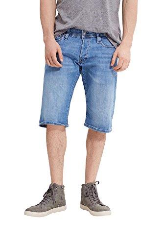 edc by ESPRIT Herren Shorts 997CC2C802, Blau (Blue Light Wash 903), 48 (Herstellergröße: 31) (Denim Five-pocket-shorts Im)