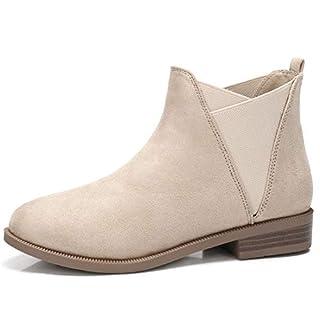 CAMEL CROWN Chelsea Boots Damen Ankle Boots Slip-On Stiefeletten Flache  Blockabsatz Stiefel Klassisch Komfortable 8c357cbf89