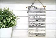 Türschild aus Holz mit dem Name der Familie - Gemütlicher Landhausstil
