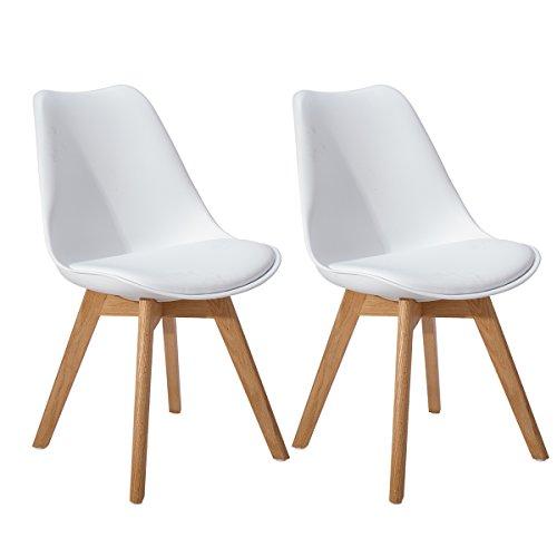 Eggree set di 2 tulip sedie cucina moderne sedie sala da for Set sedie cucina