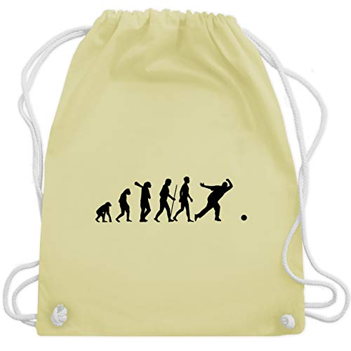 Evolution - Bowling & Kegel Evolution - Unisize - Pastell Gelb - WM110 - Turnbeutel & Gym Bag (Träger Mit Kegel)