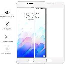 """Tumundosmartphone Protector Cristal Templado Frontal Completo Blanco para MEIZU M3 Note 5.5"""" Vidrio"""