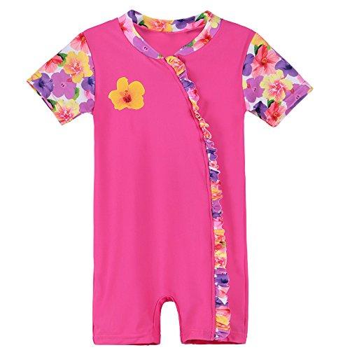 HUAANIUE Kinder Bademode Mädchen UV-Schutzkleidung Badeanzug Strand Sonnenschutz Kleidung -