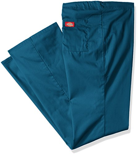 Dickies Men's Big and Tall Eds Signature Unisex Drawstring Scrub Pant, Caribbean Blue, X-Small/Tall (Scrubs Tall Herren)