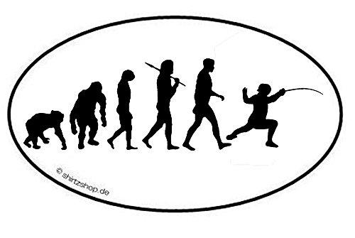 Fechten I Fechter Degen Florett Schwert Säbel Evolution Aufkleber Autoaufkleber Sticker Vinylaufkleber Decal