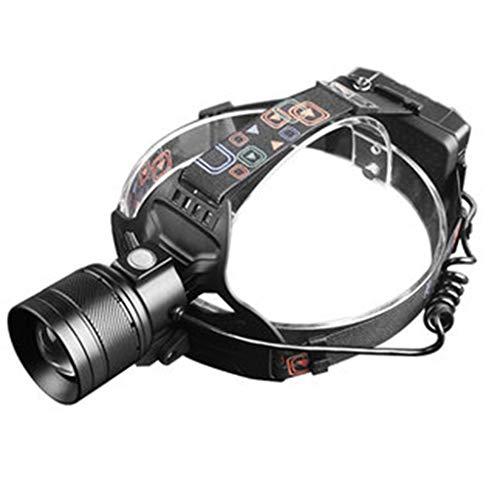 Lampade da testa fari luci sportive all'aperto luci per pesca notturna luci per arrampicata luci minerali luci per bicicletta (color : black)