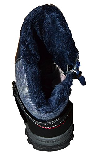 Jungs Kinderschuhe/gefütterter Stiefel mit Reißverschluß/NEU und Robust Blau