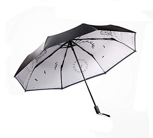Falten Drei-tasten-anzug (Screenes Kleiner Neuer Faltender Sonnenschirm Anti Uv Ms Sonniger Regen Doppelgebrauchs Einfacher Stil Reise Regenschirm DREI Falten Regenschirm Wasserdicht Regenschirme)
