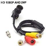 CNDST CCTV 1080P 2MP HD AHD Mini Spy Pinhole Security Camera para CCTV AHD 1080P Sistema de DVR, Mini cámara espía con cámara Starlight, Lente de 2.8 mm 140 Grados DC 12V 1A