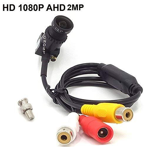 CNDST CCTV 1080P 2MP HD AHD Mini caméra Espion de sécurité à Trou d'épingle pour système de vidéosurveillance AHD 1080P DVR, Mini caméra Espion cachée Starlight, Objectif 2.8mm à 140 degrés DC 12V 1A