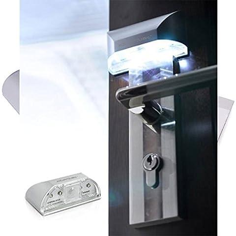 Lampada a 4 LED con Sensore di movimento di tipo PIR per Porte e Serrature M-LD018 - Xcellent
