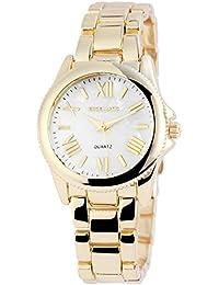 Excellanc llanc Analog Mujer reloj, metal, 30mm de diámetro, Oro Blanco–180302000033