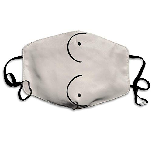 Daawqee Staubschutzmasken, Boobs Anti Dust Face Mouth Cover Mask Respirator Cotton Protective Breath Healthy Safety Warm Windproof Mask