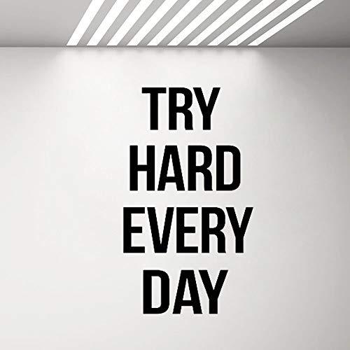 yiyiyaya Gym Wall Decor Aufkleber Fitness Center Vinyl Motivation Quote Wandaufkleber für Schlafzimmer Kinderzimmer Inspirierende Worte Aufkleber73 * 42 cm