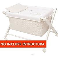 Vestidura Minicuna Tijeras mibebestore Blanco/Beige (No Incluye Estructura)