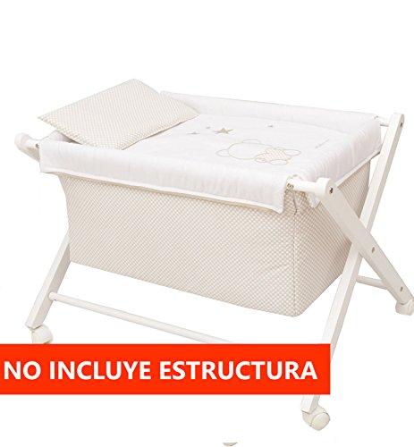 Vestidura Minicuna Tijeras mibebestore Blanco/Beige