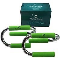 BARRA PER PUSH-UP / Maniglie per flessioni »TheBodyBar« / Potenzia la muscolatura di spalle, dorsali e braccia, verde