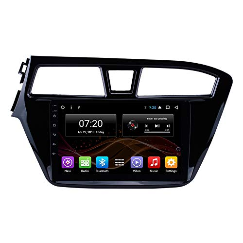 Android 7.1 Car DVD Radio GPS Navigation for Hyundai I20 2014-2017 Left Hand Drive Stereo Audio Navi Video with Bluetooth Calling WiFi (Android 7.1 1/16G for Hyundai I20 14-17L)