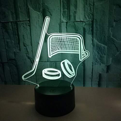 Eishockeyschläger 3d Lampe Touch Schalter Fernbedienung 3d Licht Geschenke Led Nachtlicht Luminaria De Mesa Usb Led Kinder Lampe -