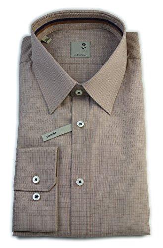 Seidensticker -  Camicia classiche  - A quadri - Classico  - Uomo Marrone