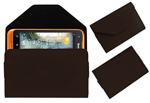 Acm Premium Pouch Case For Lenovo A660 Flip Flap Cover Holder Brown  available at amazon for Rs.179