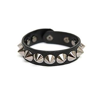 AutumnFall® Fashion Bracelet Couples Rivet Punk Leather Casual Wristband Jewelry (Black)