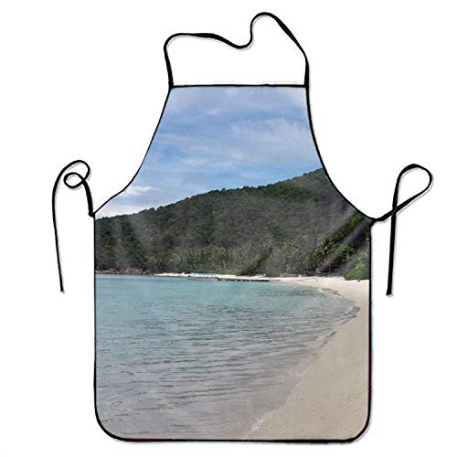 HTHYTJC Unisex Waterproof Aprons Wild Pansy Kitchen Apron with Adjustable Strap for Cooking Gardening -