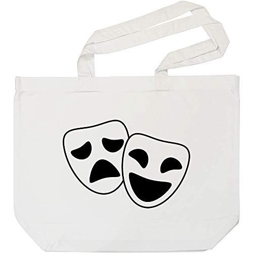 Azeeda 'Komödie & Tragödie Masken' Weiße Einkaufstasche -