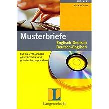 Musterbriefe Englisch-Deutsch/Deutsch-Englisch