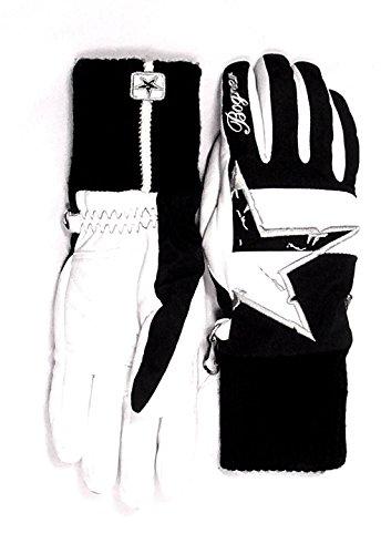 Damen Skihandschuhe Scarlett 6 weiß/schwarz