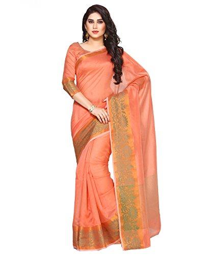 Mimosa By Kupinda Women\'s Art Silk Saree Kanjivaram Style (Latest Designer Sarees /Party wear sarees /New collection sarees) (3280-AB-104-PCH) Color: Orange
