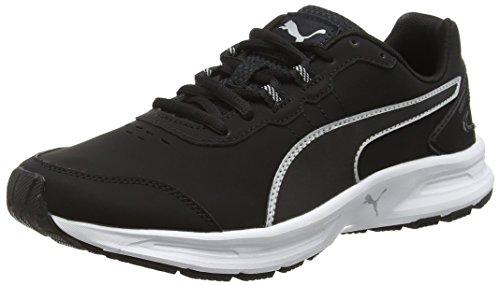 Puma Descendantv4slf6 - Zapatillas de atletismo unisex adulto, color negro (black/silver 02black/silver 02), talla 42 EU