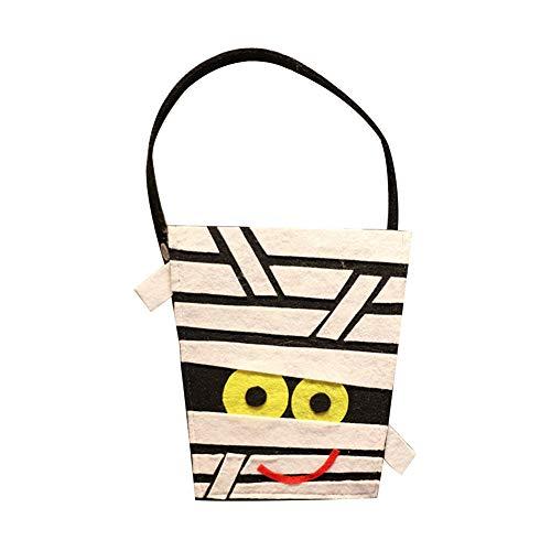 Joyfeel buy 1 Stück Halloween Tasche Kinder Mumie Muster Geschenkbeutel Süßigkeitstasche Handtasche Eimer für Kostüm Party