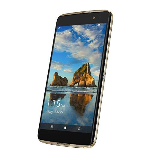 Alcatel 6077X de 2balwe713,97cm (5,5pulgadas) Idol 4Pro Smartphone (21mp Cámara, Memoria de 64GB, Win Continuum) Oro