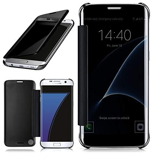 moex Samsung Galaxy S7 Edge | Hülle Transparent TPU Void Cover Dünne Schutzhülle Anthrazit Handyhülle für Samsung Galaxy S7 Edge Case Ultra-Slim Handy-Tasche mit Sicht-Fenster