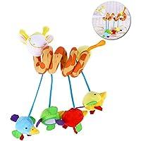TOYMYTOY Spirale attività giocattolo culla culla carrozzina hanging cicalini girato a spirale passeggino
