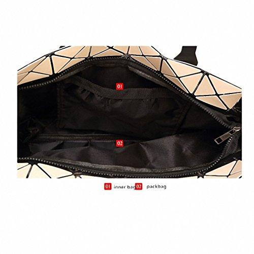 Ripiegamento del sacco a spalla Moda Borse Moda Donna Casual Tote maniglia superiore sacchetti classico al cioccolato Apricot