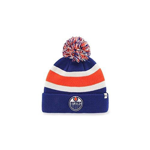 47 Brand NHL Edmonton Oilers Breakaway Cuff Knit Beany Hat One Size Mütze Forty...