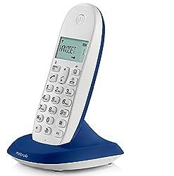 MOTOROLA C1001LI COLOURFUL CORDLESS PHONE - ROYAL BLUE